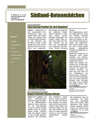 16. Ausgabe - Oase der Vier Palmen