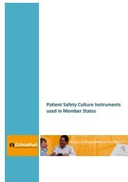 Patient Safety Culture Instruments used in Member States