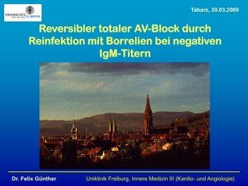 Reversibler totaler AV-Block durch Reinfektion mit Borrelien bei ...