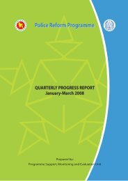 Quarterly Progress Report: January-March--2008 - Police Reform ...