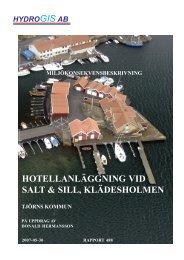 hotellanläggning vid salt & sill, klädesholmen ... - Tjörns kommun