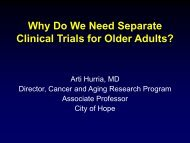 Why Do We Need Separate Clinical Trials for Older Adults?