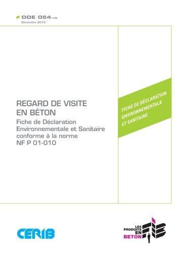 FDES Regard de visite en béton - assainissement durable