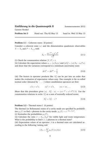 Einführung in die Quantenoptik II