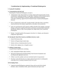 Considerations for Implementing a Transitional Kindergarten (pdf)
