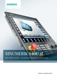 The SINUMERIK 840D sl family - Siemens
