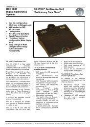 Preliminary Data Sheet DC 6190 P - AVC Group