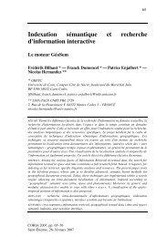 Indexation sémantique et recherche d'information interactive - MRIM