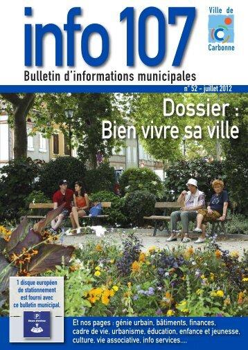 Info 107 n°52 juillet 2012 - Carbonne