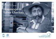Hommage à Tahar Cheriaa - Organisation internationale de la ...