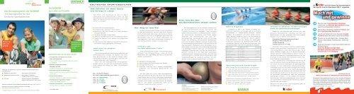 Das komplette Faltblatt zum Deutschen Sportabzeichen