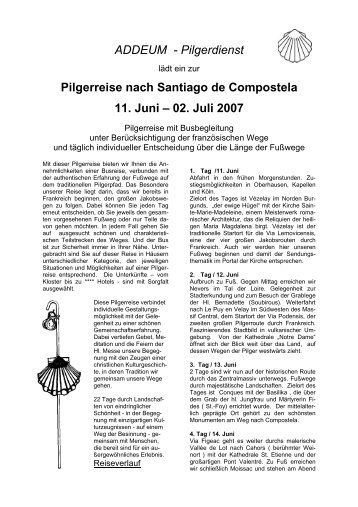 ADDEUM - Pilgerdienst Pilgerreise nach Santiago ... - Ploettner Verlag