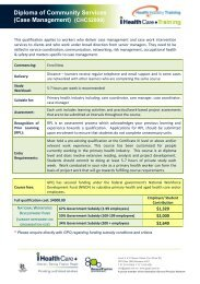 Diploma of Community Services (Case Management) - General ...