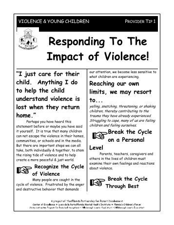 Responding to the Impact of Violence - Child & Family Studies