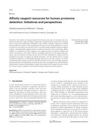 Affinity reagent resources for human proteome ... - ProteomeBinders