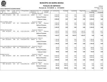 MUNICÍPIO DE BARRA MANSA - Prefeitura Municipal de Barra Mansa