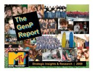 MTV GenP Report - What Teens Want
