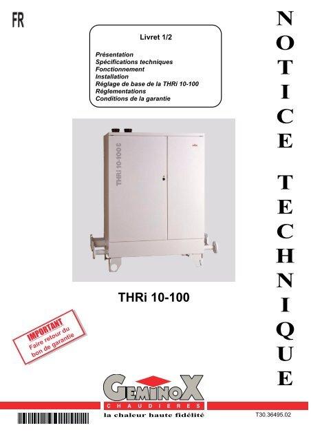 Geminox Thri 10-50 Pdf