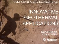 INNOVATIVE GEOTHERMAL APPLICATIONS - CMX·CIPHEX Show