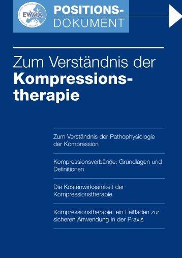 Zum Verständnis der Kompressionstherapie - EWMA