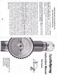 APOLLO 7500 Gun Series Instruction Manual