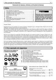 Indice 1. Para operação em segurança