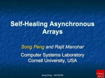 Self-Healing Asynchronous Arrays Self-Healing Asynchronous ...