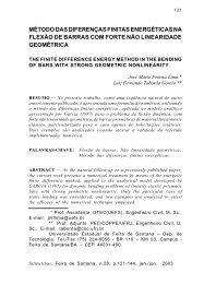 método das diferenças finitas energéticas na flexão de barras com ...