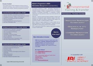 Innovative Remediation Technologies - Environmental Training ...