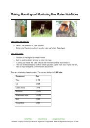 Making, Mounting and Monitoring Pine Marten Hair-Tubes