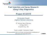 Fuel Injection and Spray Research Using X-Ray Diagnostics Project ...