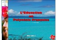 Présentation Vice Rectorat mai 2011 - Vice-rectorat de Polynésie ...