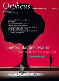 Arr.# 11 - Orpheus - internationale Opern