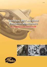 industrial belt and drive preventive maintenance - Gates Corporation