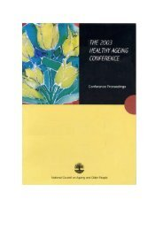 The 2003 Healthy Ageing Conference. Conference Proceedings