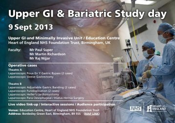 Upper GI & Bariatric Study Day- Heart of England (PDF - 136.2 Kb)