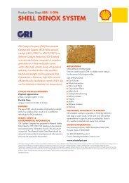 CRI Catalyst - SHELL DENOX SYSTEM