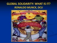 GLOBAL SOLIDARITY: WHAT IS IT? - DCU