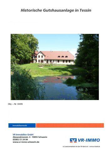 Historische Gutshausanlage in Tessin - VR IMMOBILIEN Schwerin