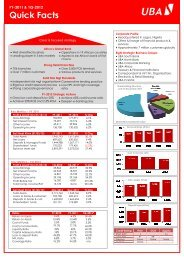 UBA QuickFacts 18 April 2012