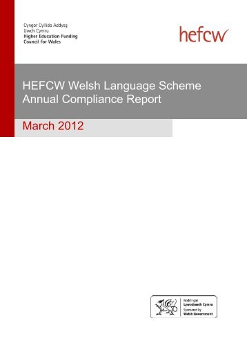 Welsh Language Scheme Compliance Report: March 2012 - Cymraeg
