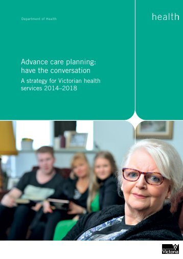 Advance care planning - strategy 2014-18