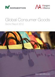 Global Consumer Goods Sector Report 2012. Part 2 - Norgestion