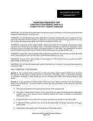 Franchise Ordinance for Construction Debris Landfills - Pitt County ...