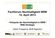 Hotspot BNE - Landesarbeitsgemeinschaft Agenda 21 NRW e.V.