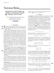 Technical Notes - Mechanical Engineering - University of South ...