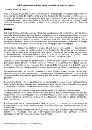 12 A Psicopedagogia aplicada para a educação de jovens e adultos ...