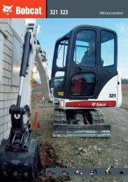 Brochure: escavatori 321-323 - Bobcat.eu