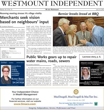 July 3 - Westmount Independent