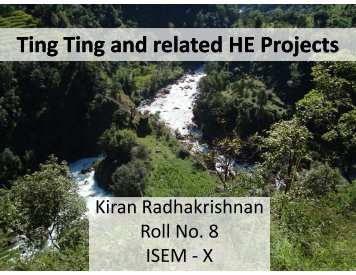 Ting Ting and other related hydroelectric projects in - International ...